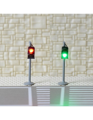 1 x traffic signal light N scale model railroad crossing walk pedestrian #GR2N